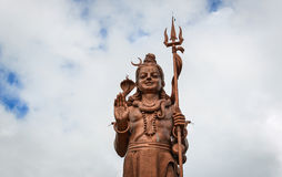 希瓦阁下巨大的雕象在毛里求斯 库存照片