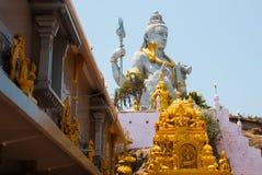 希瓦阁下雕象在Murudeshwar 寺庙在卡纳塔克邦,印度 免版税库存图片