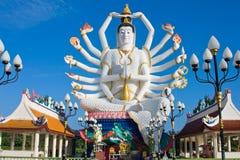 希瓦雕象在酸值苏梅岛海岛上的在泰国 免版税库存图片