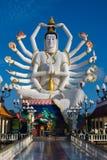 希瓦雕象在酸值苏梅岛海岛上的在泰国 免版税库存照片