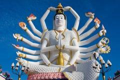 希瓦雕象在酸值苏梅岛海岛上的在泰国 图库摄影