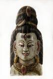 希瓦,一个传统尼泊尔面具阁下 库存照片