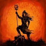 希瓦Indian God阁下印度 皇族释放例证