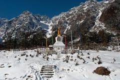 希瓦Temple阁下Yumthang的 图库摄影