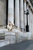 希罗多德Halicarnassus,奥地利议会的大厦雕塑  库存图片