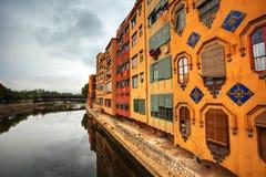 希罗纳。 西班牙。 免版税库存照片