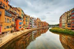 希罗纳。 西班牙。 免版税库存图片