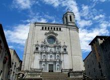希罗纳圣玛丽大教堂  免版税库存照片