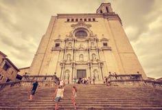 希罗纳,卡塔龙尼亚,西班牙-宗教建筑学 免版税库存图片
