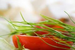 希脂乳新鲜的沙拉 免版税库存图片