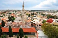 希腊中世纪清真寺罗得斯 库存照片