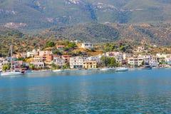 希腊九头蛇海岛 库存图片