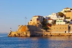 希腊九头蛇海岛 免版税库存图片
