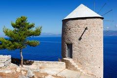 希腊九头蛇海岛 图库摄影
