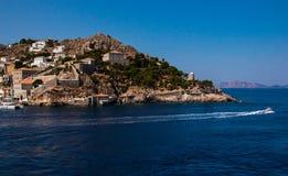 希腊九头蛇海岛 免版税库存照片