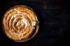 希腊乳酪饼 免版税图库摄影