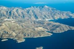希腊人卡林诺斯岛海岛十二群岛群岛埃拉尔铝合金视图在爱琴海 库存图片