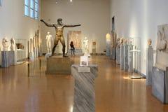 希腊人展览在考古学博物馆,雅典,希腊 免版税库存图片