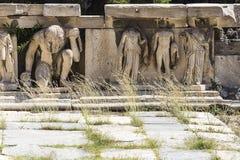 希腊人废墟 库存图片