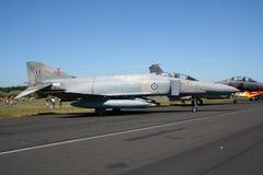 希腊人空军队F-4幽灵喷气式歼击机 库存图片