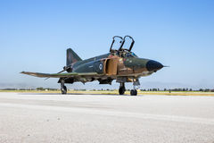 希腊人空军队F4幽灵喷气机 免版税库存图片