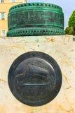 希腊人雅典小船标志坟茔无名战士Sodiers雅典Gre 免版税图库摄影