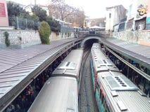 希腊人Monastiraki火车站 图库摄影