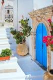 希腊传统房子位于Kithira海岛 免版税库存图片