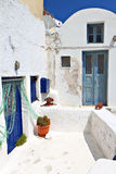 希腊传统村庄 库存图片