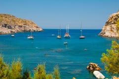 希腊传道者Paus海湾 免版税图库摄影