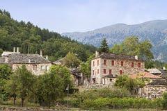 希腊传统村庄 免版税库存照片