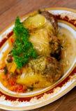 希腊传统烹调 免版税库存照片
