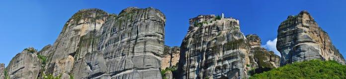 希腊修道院全景varlaam 库存照片