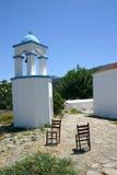 希腊修道院场面 免版税库存照片