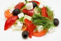 希腊健康沙拉 免版税库存照片