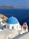 希腊全景的圣托里尼 库存图片