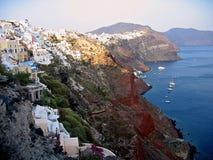 希腊全景的圣托里尼 图库摄影