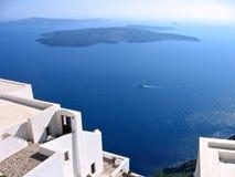 希腊全景的圣托里尼 免版税库存照片