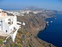 希腊全景的圣托里尼 库存照片