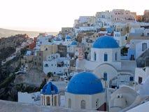 希腊全景的圣托里尼 免版税库存图片