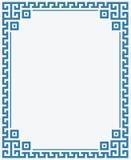 希腊关键边界框架海上色背景 免版税库存图片