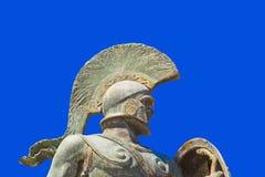 希腊利奥尼达斯・斯巴达国王雕象 免版税库存照片