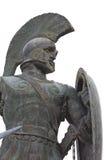 希腊利奥尼达斯・斯巴达雕象 免版税库存图片