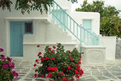希腊别墅 免版税库存图片