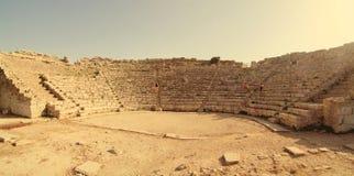 希腊剧院的废墟在Segesta,西西里岛 免版税库存照片