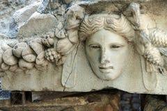希腊剧院面具 免版税库存图片