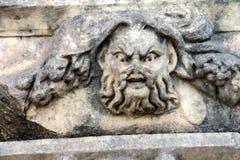 希腊剧院面具 免版税库存照片