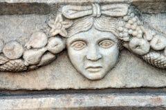 希腊剧院面具 库存照片
