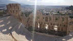 希腊剧院 库存照片