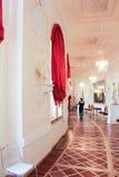 希腊半圆画廊 免版税图库摄影